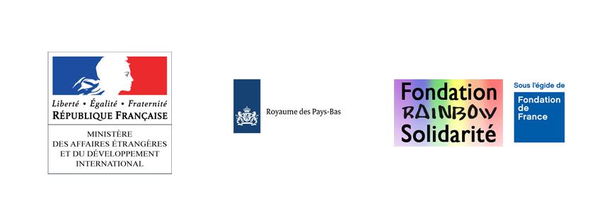 Partenaires financiers de SIL : ministères des affaires étrangères et du développement international, Royaume des Pays-Bas et Fondation Rainbow Solidarité.